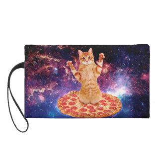 pizza cat - orange cat - space cat wristlet