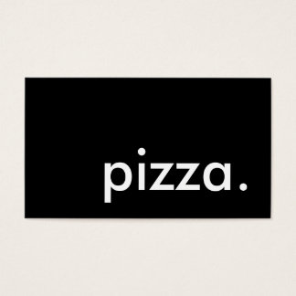 pizza. (color customizable) business card