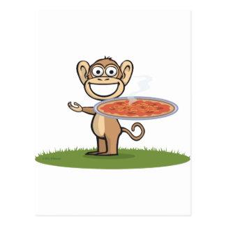 Pizza de singe cartes postales