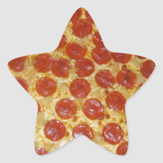 Pizza...Delicious Pepperoni Pizza Star Sticker