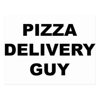 Pizza Delivery Guy Postcard
