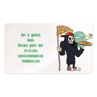 Pizza delivery reaper grim business card