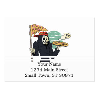 Pizza delivery reaper grim large business card