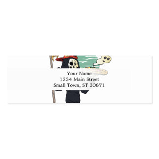 Pizza delivery reaper grim mini business card