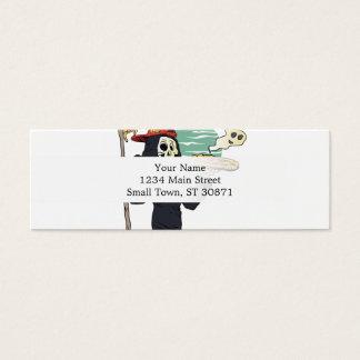Pizza delivery reaper grim mini business card