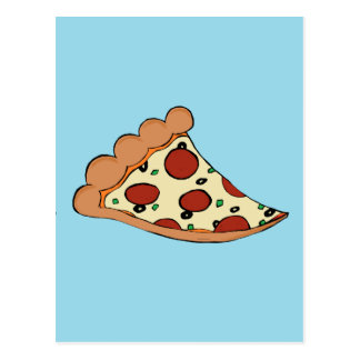 Pizza design postcard
