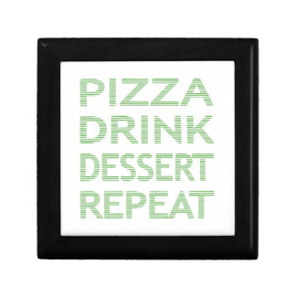 PIZZA DRINK DESSERT REPEAT  - strips - blue Gift Box