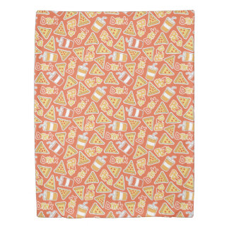 Pizza & Drink Pattern duvet covers