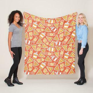 Pizza & Drink Pattern fleece blankets