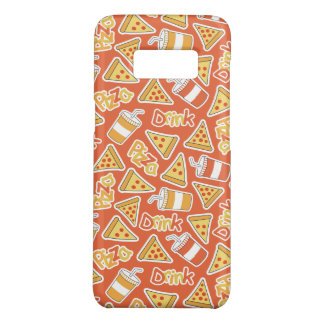Pizza & Drink Pattern phone cases