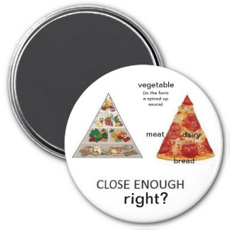 pizza food pyramid magnet