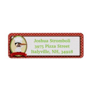 Pizza Guy Return Address Labels