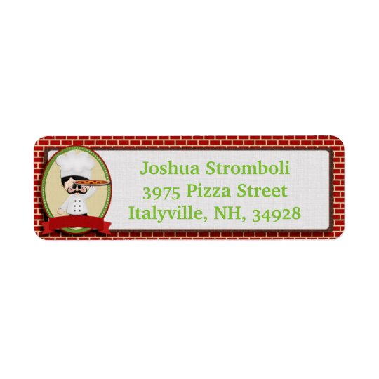 Pizza Guy Return Address Labels