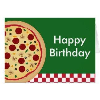 Pizza Happy Birthday Party Card
