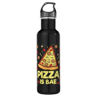 Pizza Is Bae - Cute Kawaii Funny Cartoon - Novelty 710 Ml Water Bottle