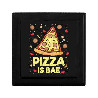 Pizza Is Bae - Cute Kawaii Funny Cartoon - Novelty Gift Box