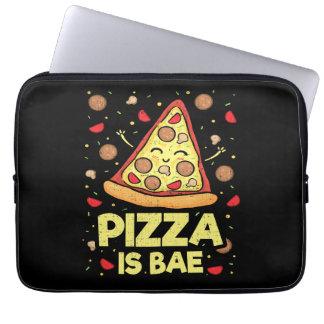Pizza Is Bae - Cute Kawaii Funny Cartoon - Novelty Laptop Sleeve