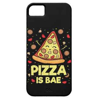Pizza Is Bae - Funny Cartoon - Novelty iPhone 5 Case