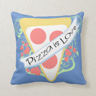 Pizza is Love Throw Pillow