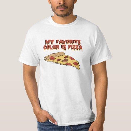 Pizza Is My Favourite Colour T Shirt