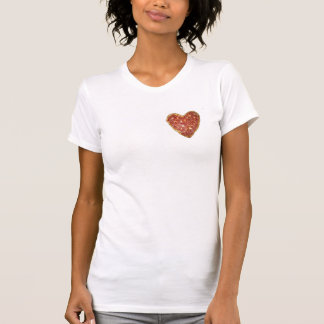 PIZZA IS MY HEART WHITE WOMENS TEE