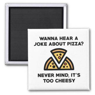 Pizza Joke Square Magnet