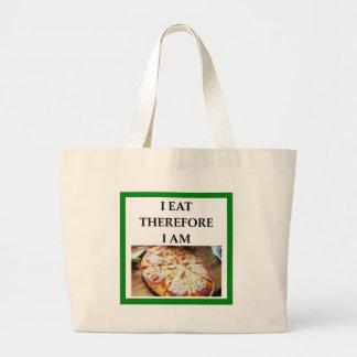 pizza large tote bag