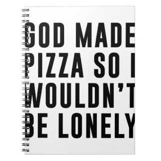 Pizza Lonely Notebooks