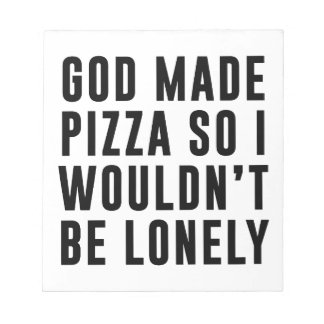 Pizza Lonely Notepad