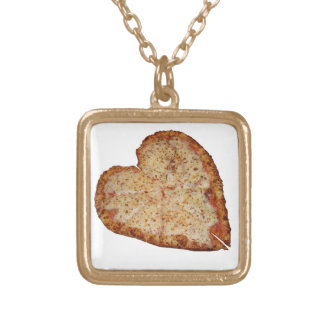 Pizza Love Gold Plated Necklace