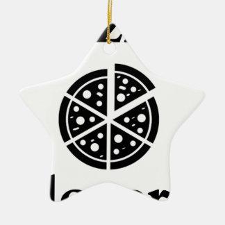 pizza lover ceramic ornament