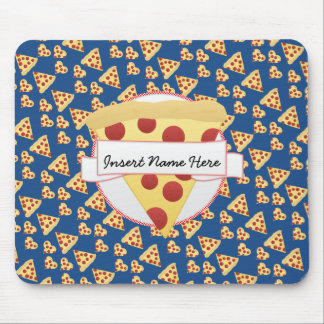 Pizza Lover Customizable Monogram Mouse Pad