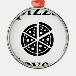 pizza lover metal ornament