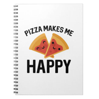Pizza Makes Me Happy Spiral Notebook
