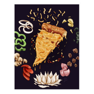 Pizza Mandala Postcard