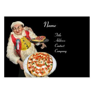 PIZZA & MANDOLIN ITALIAN KITCHEN  ,black red Pack Of Chubby Business Cards