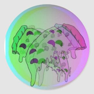 Pizza My Haze Classic Round Sticker