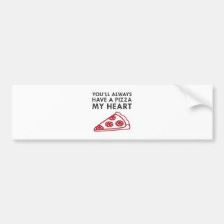 Pizza My Heart Bumper Sticker