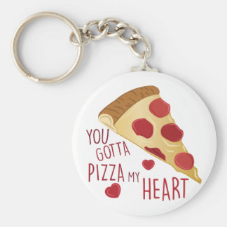 Pizza My Heart Keychain