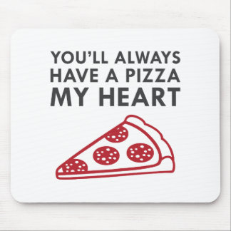 Pizza My Heart Mouse Pad