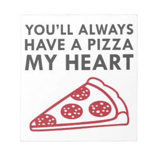 Pizza My Heart Notepad