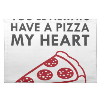 Pizza My Heart Placemat