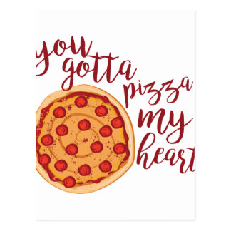 Pizza My Heart Postcard