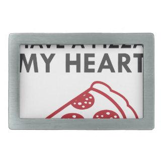 Pizza My Heart Rectangular Belt Buckle