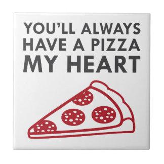 Pizza My Heart Tile