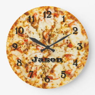 Pizza On Time Ready To Go Large Clock
