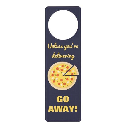 Pizza or Go Away Door Hangers