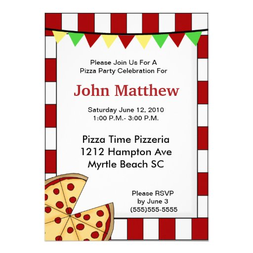 Pizza Party Invite with great invitations example