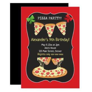 Pizza Party Birthday invitation Any Age
