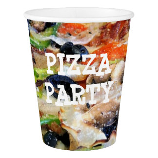 Pizza Party Birthday Party Paper Cups